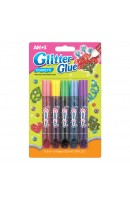 AM GCF10B5: Amos Glitter Glue 5 Colours - Confetti